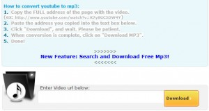 vidtomp3 300x160 Convertire un video di YouTube in un file Mp3