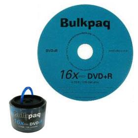 dvd+r bulkpaq DVD+R 16x 4.7GB 120MIN Bulkpaq   Confezione da 50 pezzi